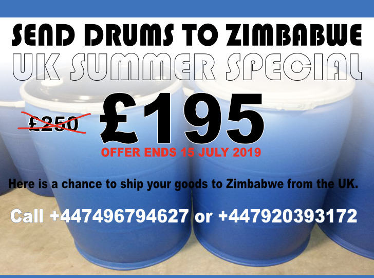 Send Drums To Zimbabwe for only £195