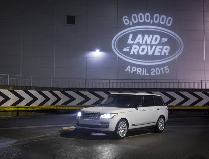 6,000,000th Land Rover lights up Solihull