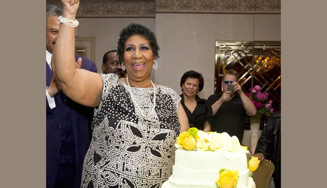 Aretha Franklin celebrates  her 70th birthday