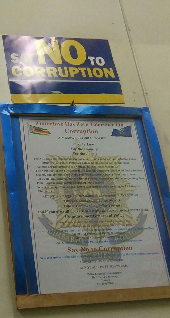 Notice At Central Police Station In Bulawayo Bulawayo24 News