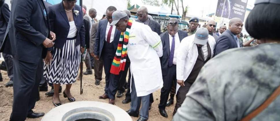 Mnangagwa commissions the National Backbone Fibre Optic Link