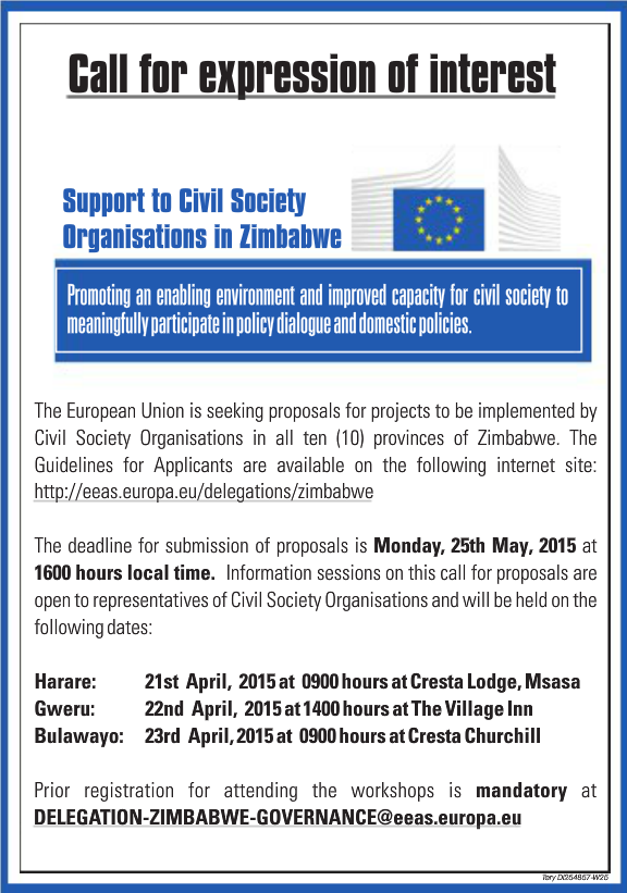 EU seeking proposals from Zimbabwe NGOs :: Harare24 News
