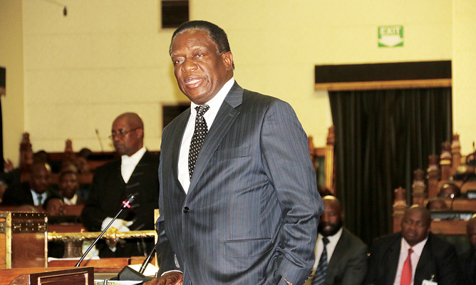 Mnangagwa defends army