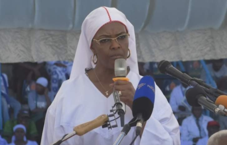 Image result for images of grace mugabe in church garments