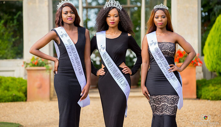 Reigning Miss World Zimbabwe UK and Princesses not competing in Pageant in Zimbabwe