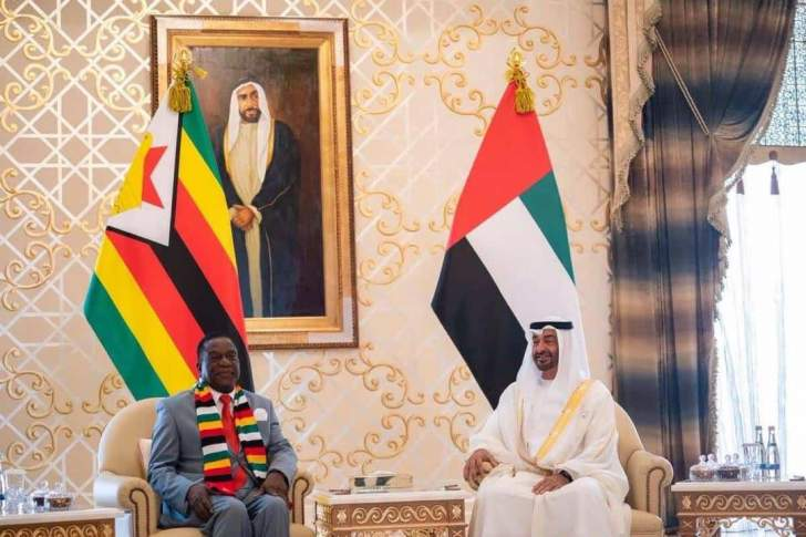 Image result for mnangagwa UAE