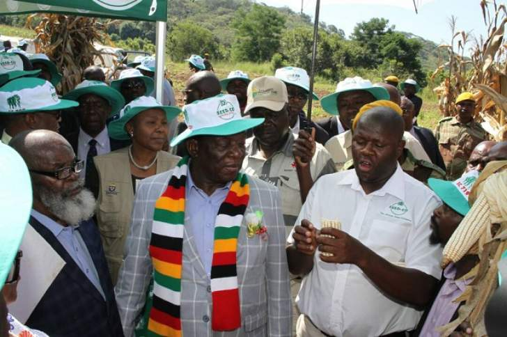 Mnangagwa at a field day in Chipinge.'