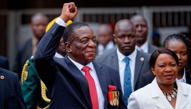 President Mnangagwa returns home