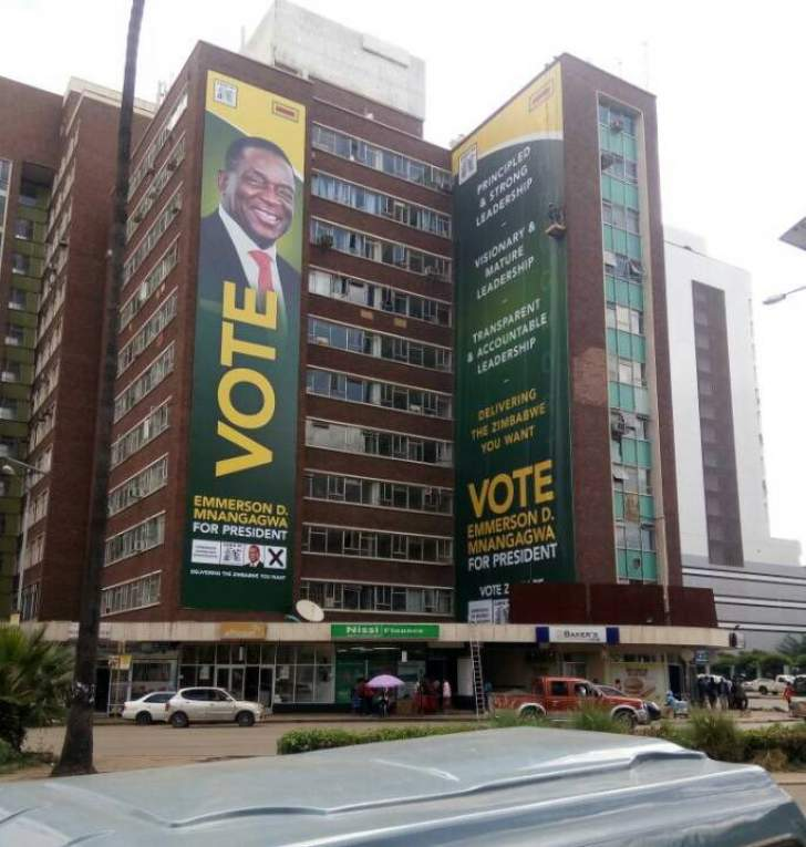 Image result for images of mnangagwa billboards