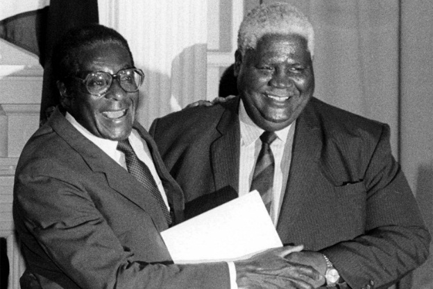 'Joshua Nkomo made Mugabe the leader of ZANU in 1975'