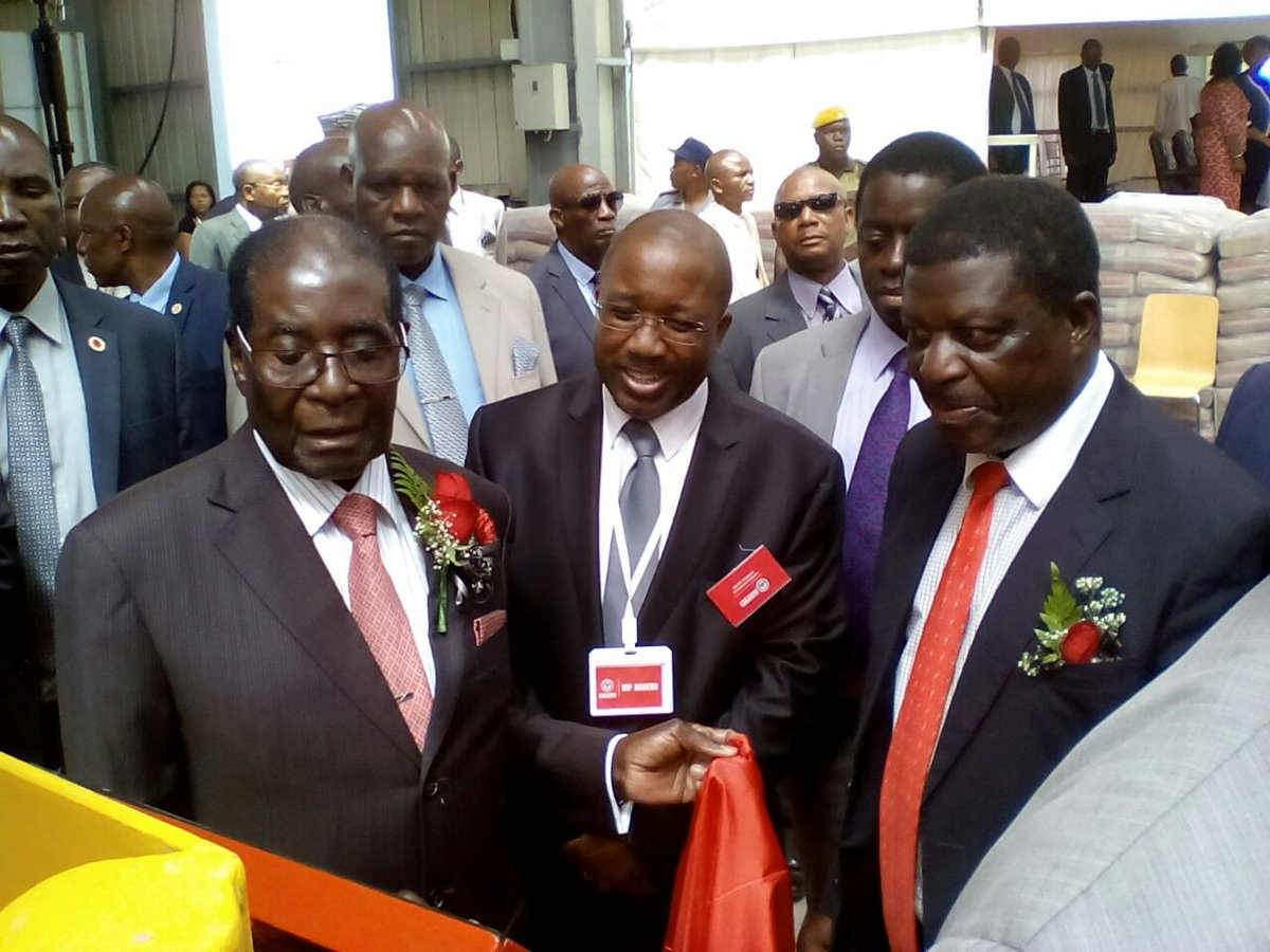 PICTURES: Mugabe officially opens PPC plant in Harare