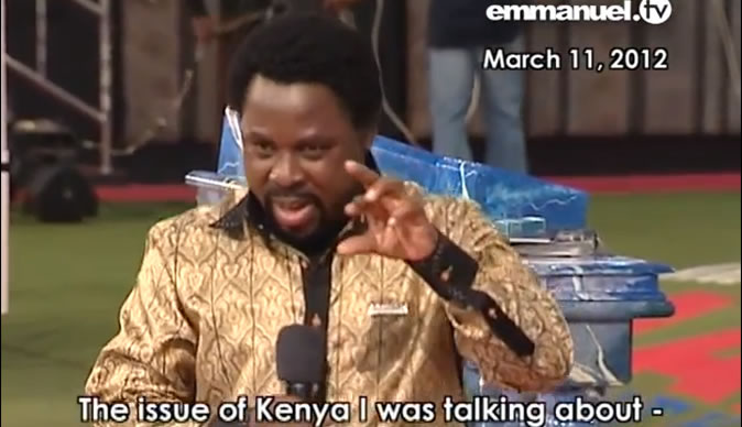 How TB Joshua predicted Kenya terror attack - Bulawayo24 News