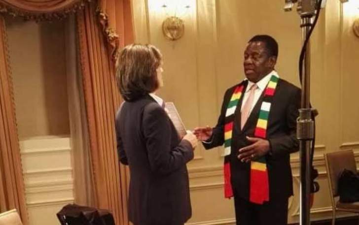 International media stampede to interview Mnangagwa