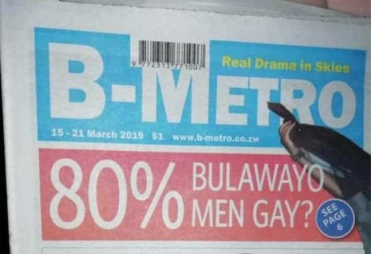'80% of Bulawayo men who patronise bars and the red light districts are gay'