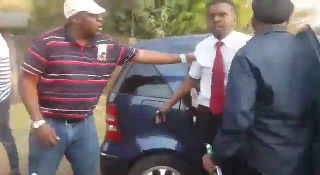 WATCH: Boys bumps into someone's car and get smashed