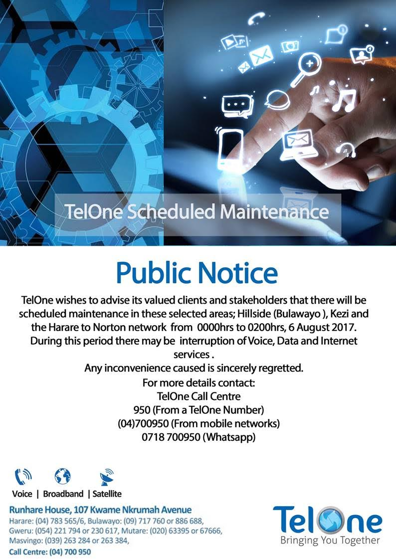 TelOne announces disruption of services