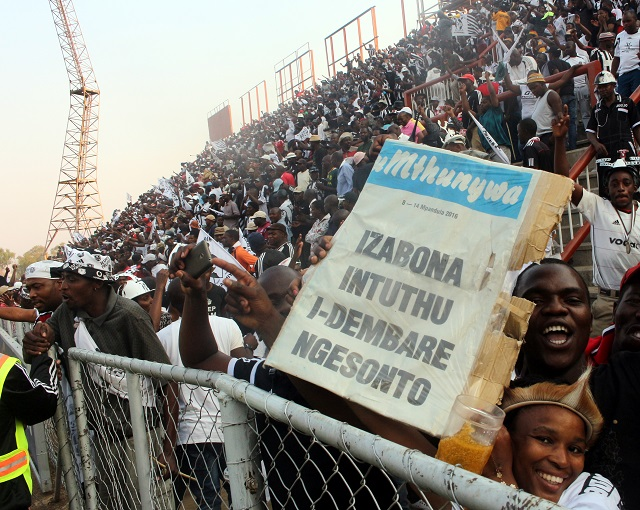 JUST AS UMTHUNYWA PREDICTED…..Highlanders Football Club supporters ...
