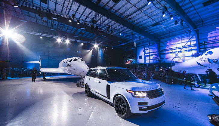 Land Rover Media Release: Range Rover Helps Unveil New Virgin Galactic SpaceShipTwo at Global Reveal and Naming Ceremony