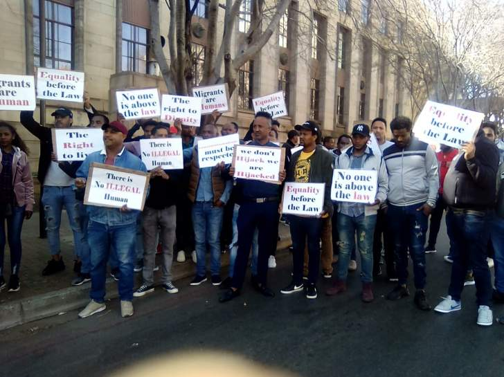 PHOTOS: Foreigners demonstrate in South Africa