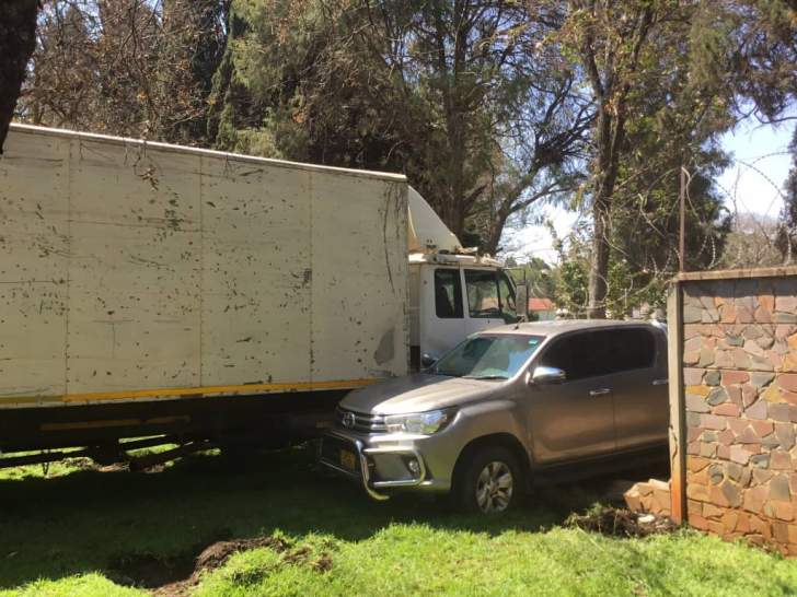 Truck crashes into State House