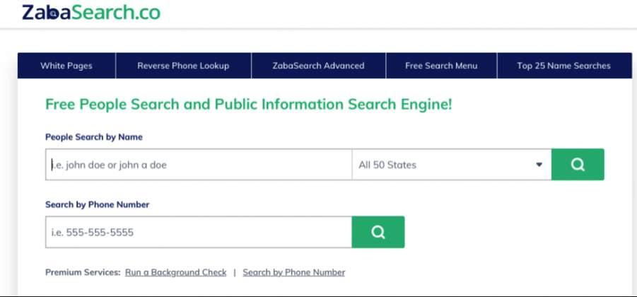 You can now track anyone in the United States: ZabaSearch search review