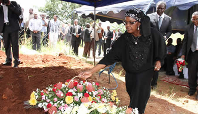 First Lady Grace Mugabe On Saay Mourned The Of Chitungwiza Son Wedding Pictures