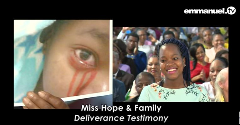 Girl who 'cries blood' delivered of demons at T B  Joshua's