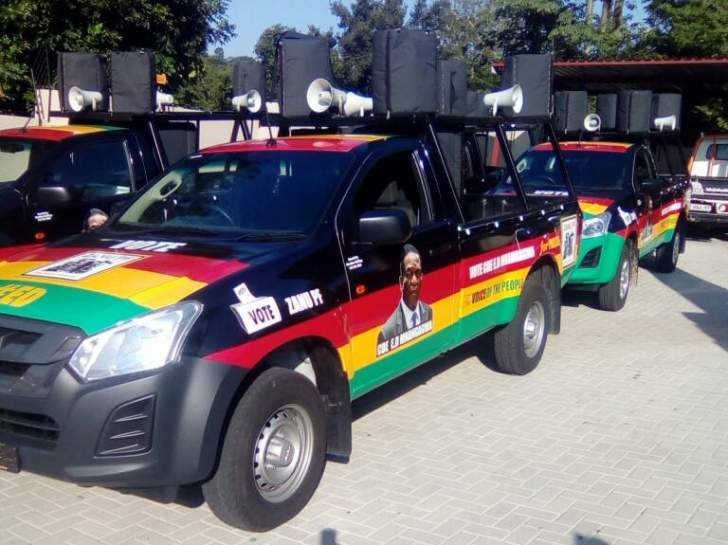 PHOTOS: Mnangagwa's campaign vehicles delivered