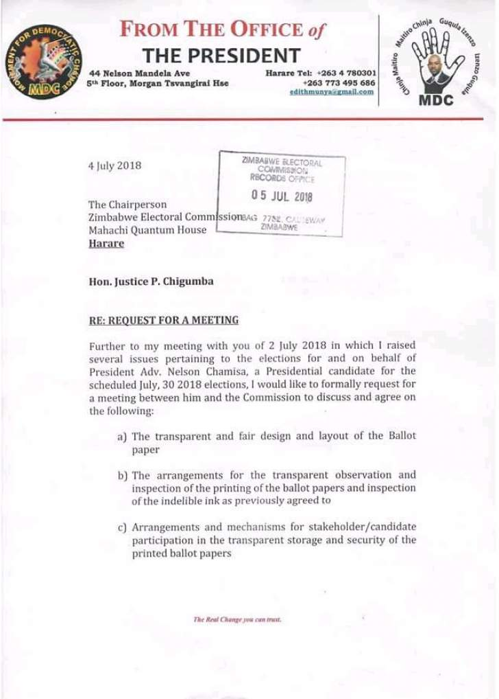 Chamisa want urgent meeting with full zec commission bulawayo24 news chamisa yesterday threatened to boycott this months general election after claiming that ballot papers have been rigged to favour president emmerson thecheapjerseys Images