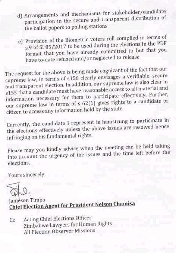 Chamisa want urgent meeting with full zec commission bulawayo24 news chamisa yesterday threatened to boycott this months general election after claiming that ballot papers have been rigged to favour president emmerson altavistaventures Image collections