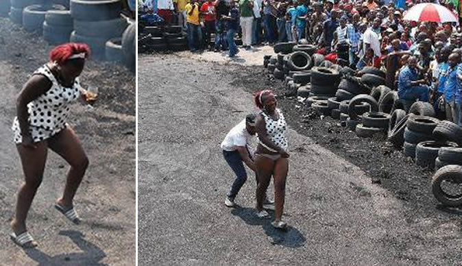 Woman Takes Off Panties And Starts Dancing At Funeral Bulawayo