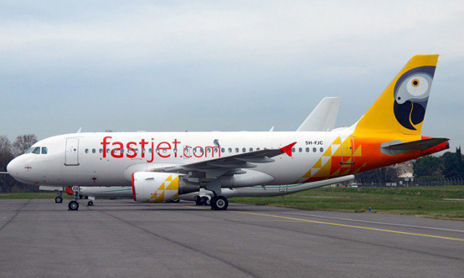 Mid-air scare for fastjet passengers