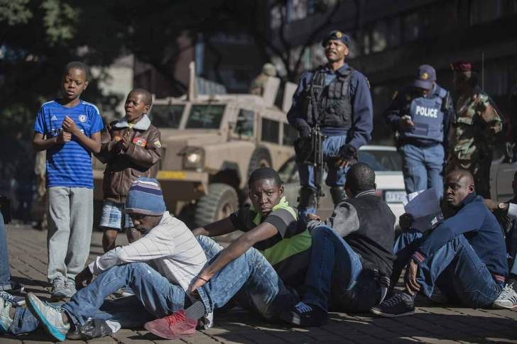 Foreigners in SA panic as police besiege Hillbrow