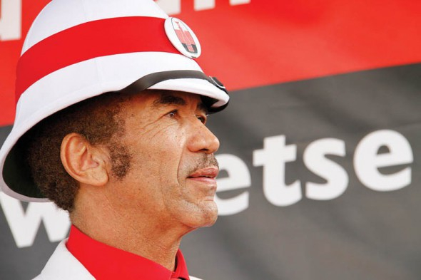 Ian Khama quits, trashes his BDP membership card in public