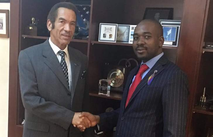 Chamisa asks Ian Khama to mediate in Zimbabwe crisis