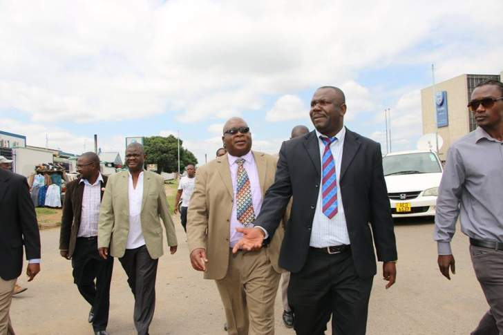 PHOTOS: Acting MDC-T President Mudzuri tours banks, industries in Harare