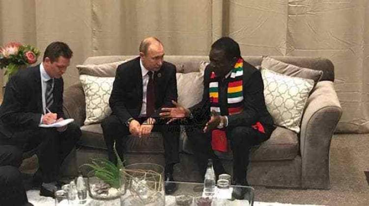 Mnangagwa, Putin to meet