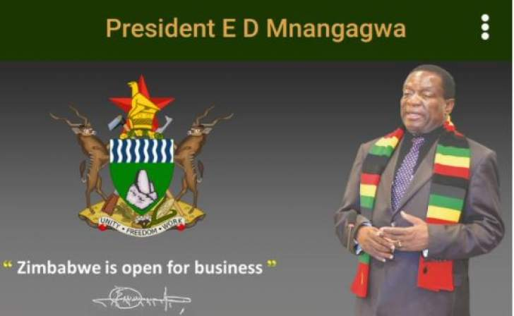 Mnangagwa launches mobile app