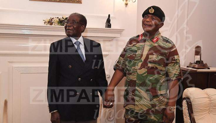 Billedresultat for mugabe meeting Gen chiwenga