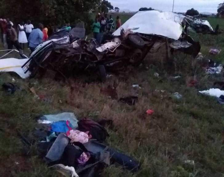 Image result for 11 people died after two commuter omnibuses collided head on along the Harare – Nyamapanda highway in Murehwa on Sunday evening.