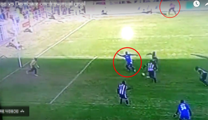 Former English football referee says Dembare goal was offside