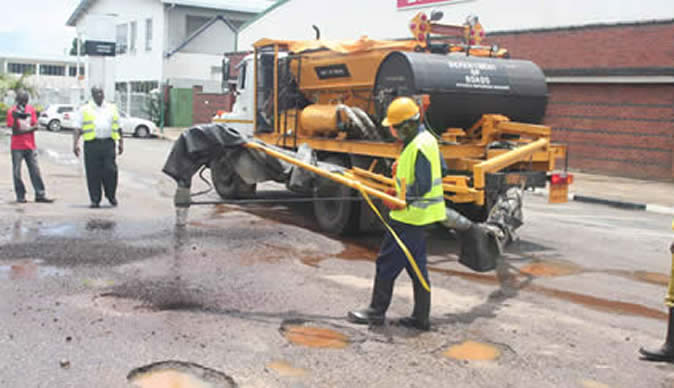 pothole filling machine