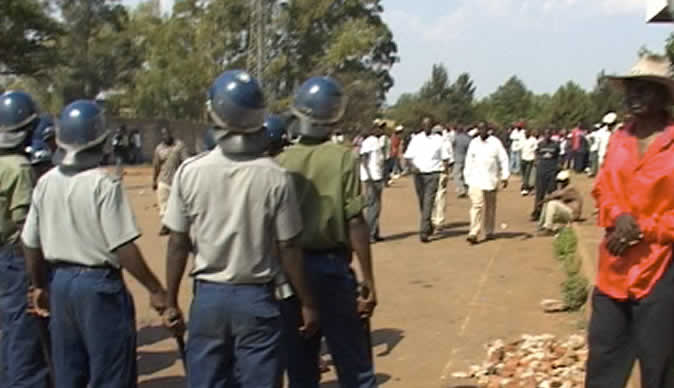 Riot police,  soldiers attack Zanu PF youths, war vets
