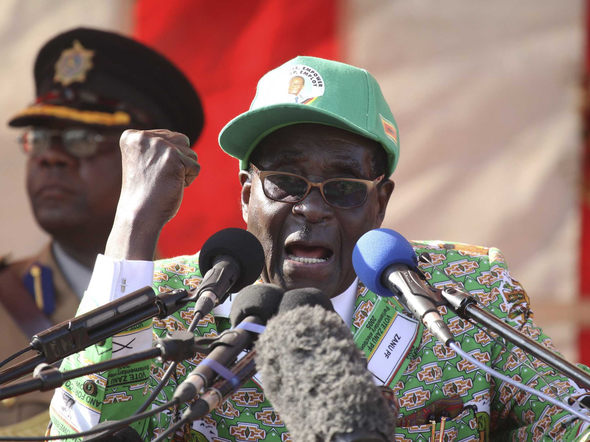 35 years of absolute power have absolutely corrupted and corroded Mugabe's mind!