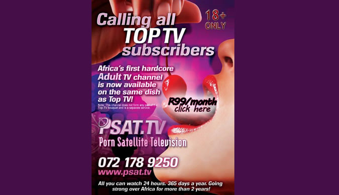 Satellite broadcast of porn TV channels
