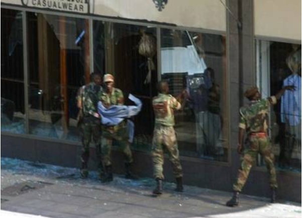 Zimbabwe 'soldiers' invade shops, impose own prices