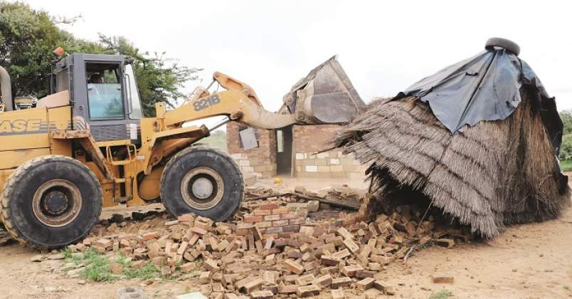 +300 families' homes razed to the ground
