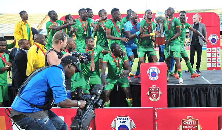 Zimbabwe winners of the 2017 Cosafa Castle Cup - Final Celebration Images and Awards