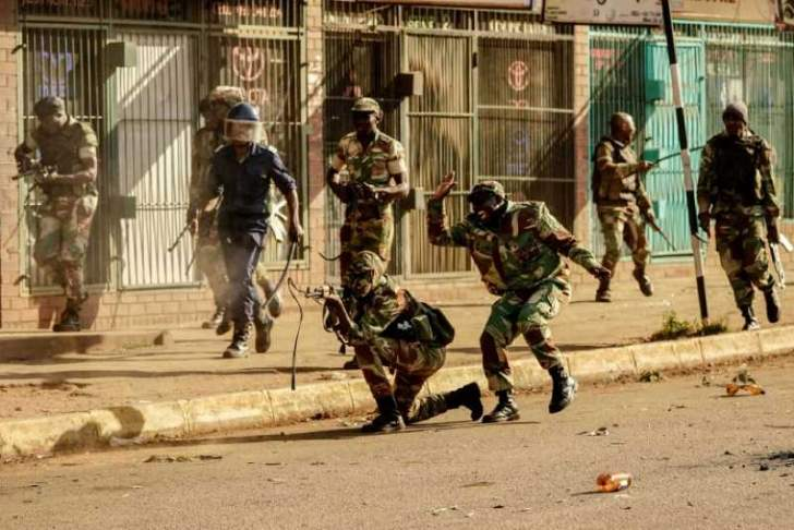 Zanu-PF backers justify army use of deadly force